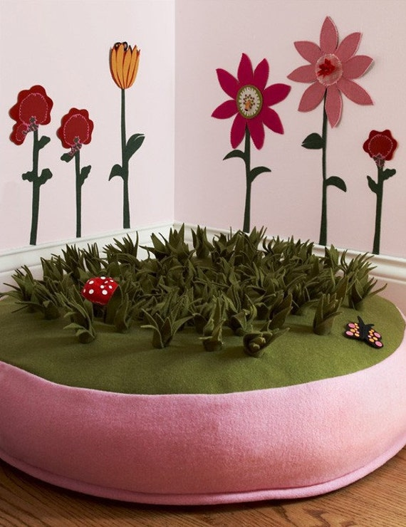 Grass Floor Pillows : Items similar to Grass Pouf Kids Floor Pillow on Etsy