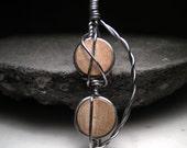Iron and wood pendant