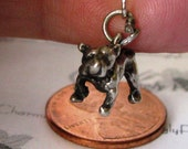 Vintage Sterling Silver Charm-Bull Dog with a Shar- Pei Face, 1940's