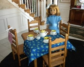 American Girl Doll: Furniture, square table and 4 chair set