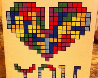 Tetris Card Template