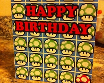 Mario Birthday Card Template