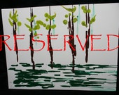 Simple Trees Crayon Art 24 x 42 - RESERVED for Sean