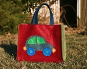 Car Tote Bag, Eco Felt Handbag for Boys