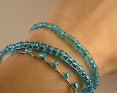 Aqua Beaded Bracelets