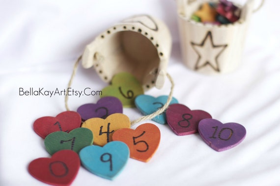 Bucket O Hearts / Childs Counting Toy