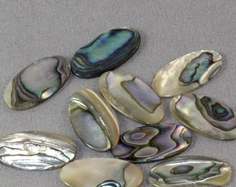 10 ABALONE SHELL Cabs 21x11MM oval NO.00193