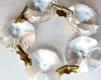 10 HANDCUT CRYSTAL Glass Chandelier Pieces for your assemblage repurpose reuse recycle NO.00102