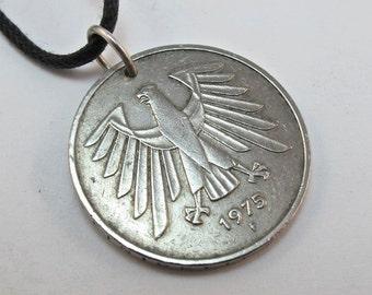 GERMAN COIN NECKLACE 5 Mark  Germany  Deutschland No.00611