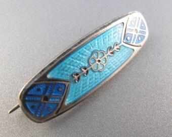 ANTIQUE GUILLOCHE ENAMEL brooch pin. enamel jewelry.  victorian edwardian . lace pin No.001032 hs
