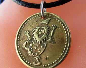 GAME token necklace /  wizard . no cash value . for replay. game coin. wizard necklace No.001058
