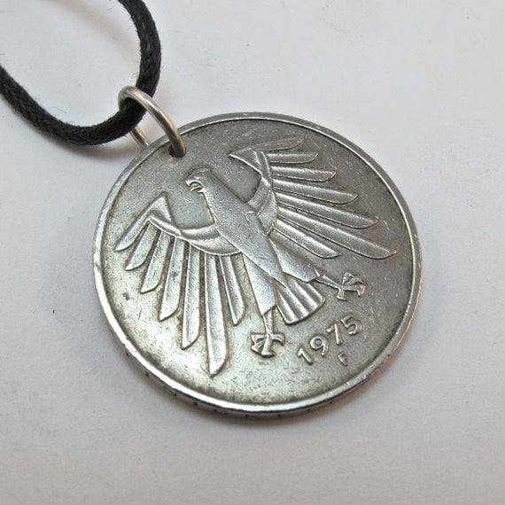 german coin necklace 5 mark germany deutschland by partsforyou. Black Bedroom Furniture Sets. Home Design Ideas