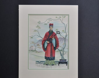 The Emperor/ The Empress, asian art, prints, vintage, vintage asian art work