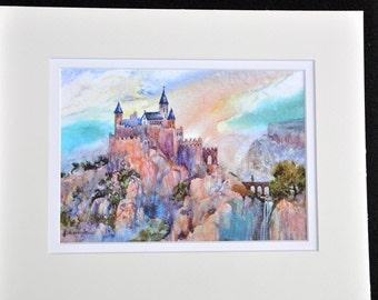 Ariel by Jerrilyn Emison, castle medieval art
