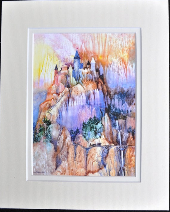 Lerania by Jerrilyn Emison, castle medieval art