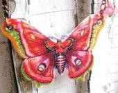 Bright Butterfly Colorful Spring Summer Trend Multicolored in Pink and Purple