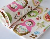 Baby Blanket, Matryoshkas / Russian Dolls by Kokka and Organic Cotton Fleece