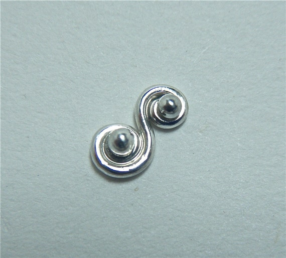 items similar to scroll silver nose ring unique nose