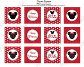 DIY Minnie Mouse Birthday Party  PRINTABLE Cupcake Toppers Red or we can PRINT them...