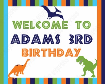 DIY Dinosaur Birthday Collection PRINTABLE Party Welcome door sign