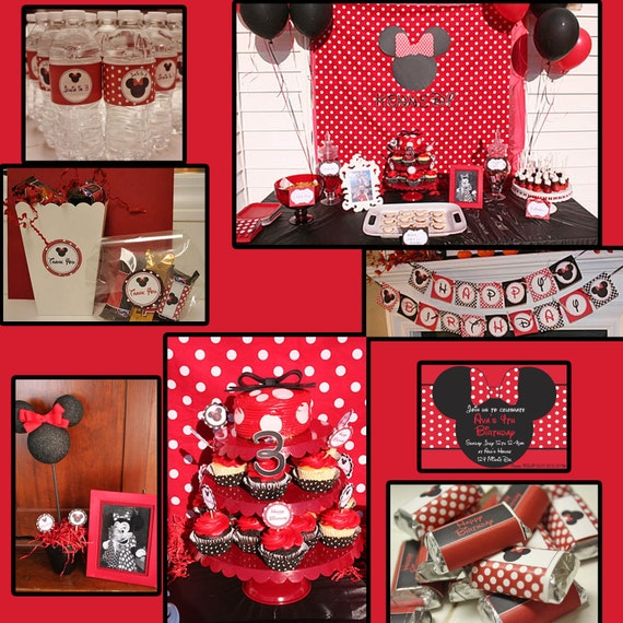 Items Similar To DIY Minnie Mouse Birthday Party PRINTABLE