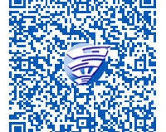 Deluxe QR Code in One Color with Logo/Provided Artwork