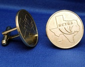 Texas Sam Houston Tollway HCTRA Token Cufflinks