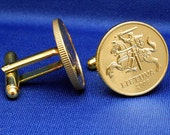 Lithuania Coin Cufflinks - Knight on Horseback 20 centu