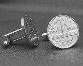 Canada 1951 1751 200 Years of Nickel Coin Cufflinks