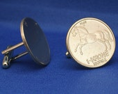 Stallion Horse Norway Norge 1 Krone Coin Cufflinks
