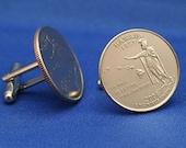 Hawaii Kamehameha 2008 Quarter 25c USA Coin - New Cufflinks