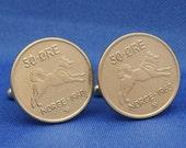 Norway Elkhound Spitz Dog 50 ore Coin Cufflinks
