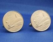 Nebraska Chimney Rock 2006 Quarter 25c USA Coin - New Cufflinks