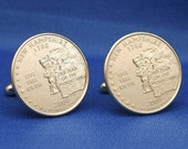 Live Free or Die NH 2000 Quarter 25c USA Coin - New Cufflinks