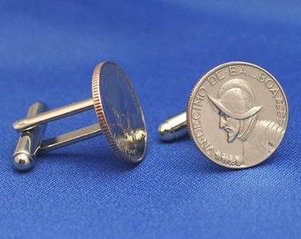 Panama Conquistador 1/10 Balboa Coin Cufflinks