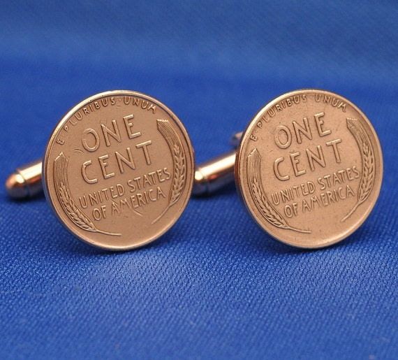 Wheat Penny Copper USA 1 Cent Coin (CB) - Cufflinks