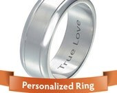 Personalized Ring - Personalized Jewelry Stylish Silver color stainless steel engraved ring -  Your Perfect Gift.