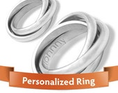 Personalized Jewelry - Personalized Rings -  Classy Engraved Stainless Steel Rings SET  Your Perfect Gift