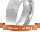 Personalized Jewelry - Personalized Ring - Classy Silver color engraved ring - Your perfect Gift