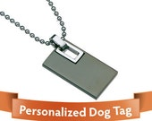 Personalized Jewelry - Dog Tag - Fashionable Silver Black Color dog tags Personalized stainless steel - Your Perfect Gift