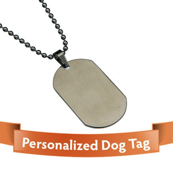 Personalized Dog Tag - Fashinable Wide Oval Stainless Steel DogTag