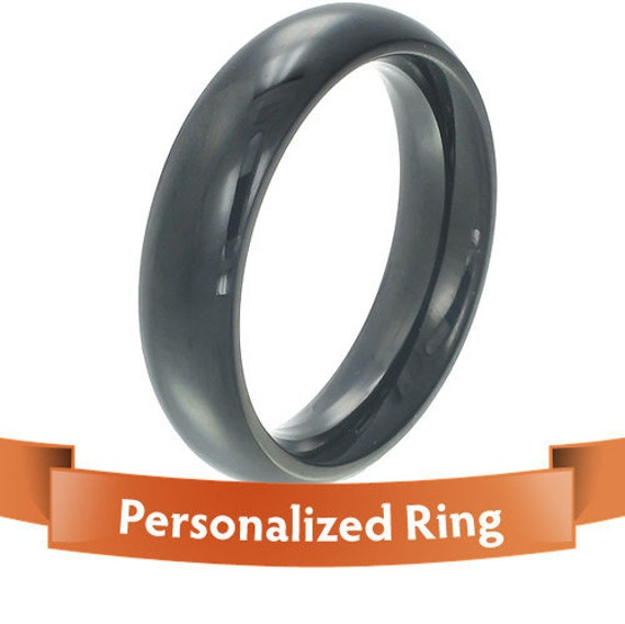 Personalized Jewelry - Personalized Ring -  stylish black color titanium ring - Your perfect gift