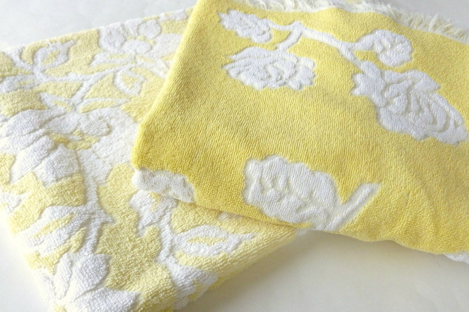 Reserved Yellow Bath Towels Set In By Bornatthewrongtime