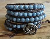 Wrap Bracelet, Beaded Wrap Bracelet, Chan Luu style bracelet, 5 Times Wrap