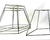 4 Lamp Shade Frames Diamond Shape Wire Hand Made NYC