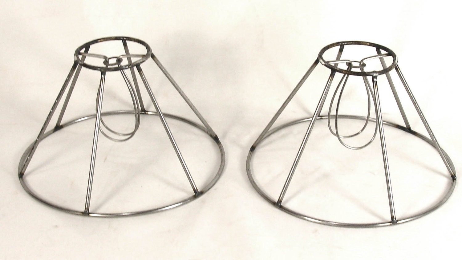 2 Lamp Shade Frames For Small Table Or Chandelier Wire
