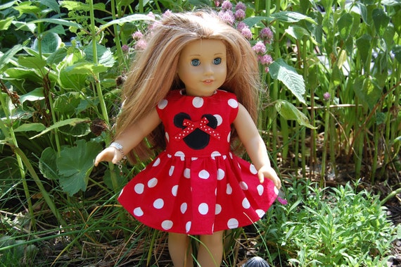 """American Girl, 18"""" doll Minnie Mouse, Disney Dress - Bitty Baby - Ready to ship"""