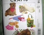 McCalls Crafts M5016 dog accessories uncut pattern