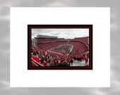 A Sea Of Scarlet - 5x7 Matted Ohio State Buckeyes Ohio Stadium Columbus Ohio Art Print by Kenneth Krolikowski - Free Shipping