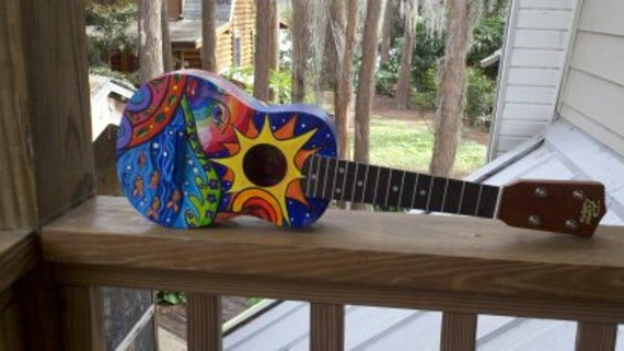 Somewhere Over The Rainbow Handpainted Soprano Ukulele